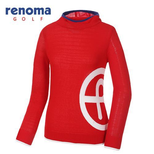 [레노마골프]여성 배색 로고 후드 스웨터 RWSRG5209-500