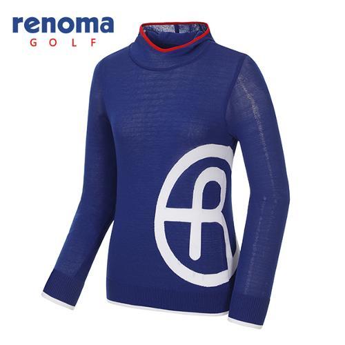 [레노마골프]여성 배색 로고 후드 스웨터 RWSRG5209-110