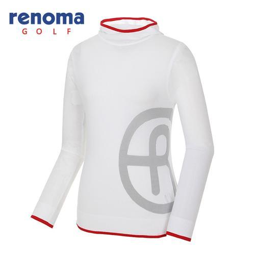 [레노마골프]여성 배색 로고 후드 스웨터 RWSRG5209-100