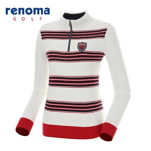 [레노마골프]여성 배색 캐주얼 반집업 스웨터 RAKP53611-OW