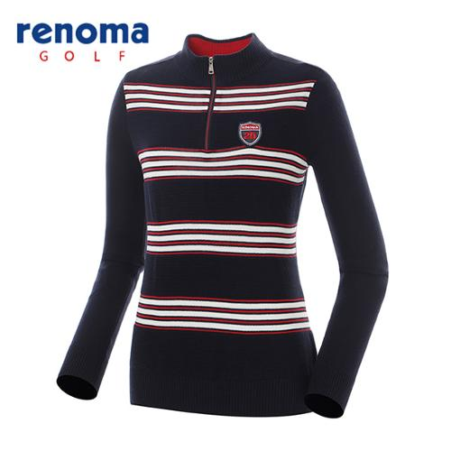 [레노마골프]여성 배색 캐주얼 반집업 스웨터 RAKP53611-NY