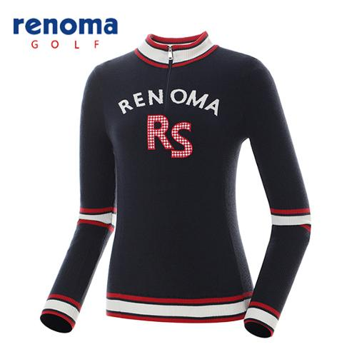 [레노마골프]여성 캐주얼 배색 레터링 반집업 스웨터 RAKP51611-NY