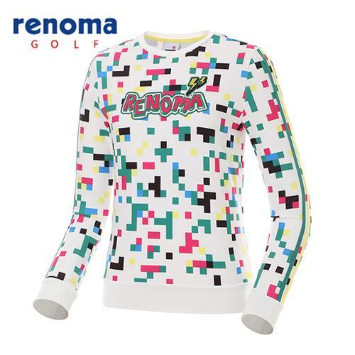 [레노마골프]여성 모자이크 캐주얼 맨투맨 티셔츠 RWTRG5114-100