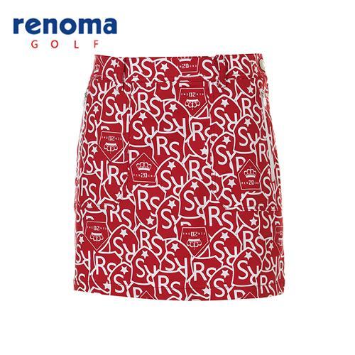[레노마골프]여성 캐주얼 패턴 큐롯 팬츠 RACU58611-RD