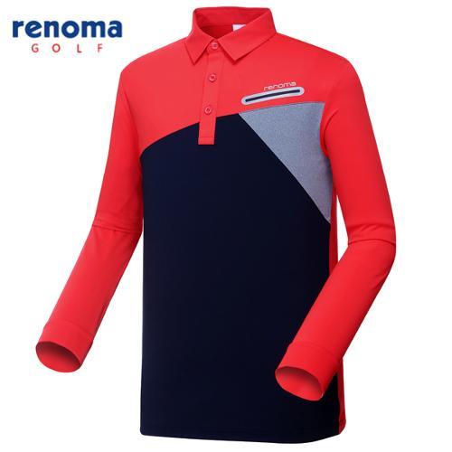 [레노마골프]남성 사선 블록 카라 티셔츠 RMTYG1112-500