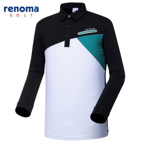 [레노마골프]남성 사선 블록 카라 티셔츠 RMTYG1112-199