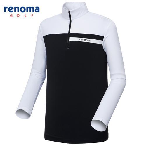 [레노마골프]남성 요크 배색 반집업 티셔츠 RMTYG1111-100