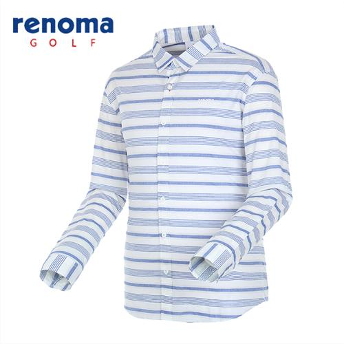 [레노마골프]남성 내추럴 스트라이프 셔츠 RMBSG1603-110