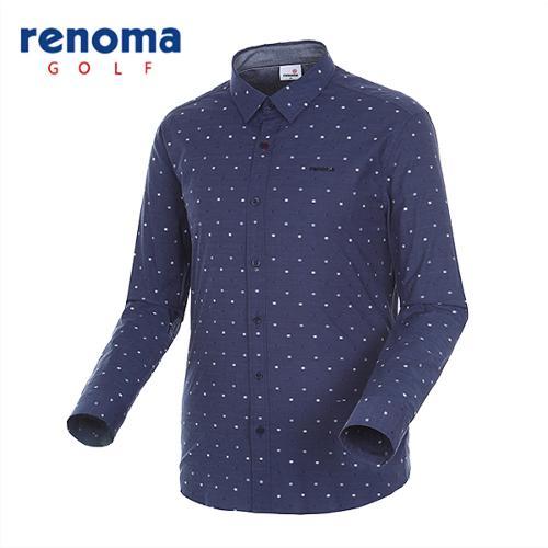 [레노마골프]남성 베이직 자수 코튼 셔츠 RMBSG1601-120