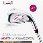 포틴 정품 TC560 포지드 남성 아이언단품(PA)/NEW Dynamic Gold S200