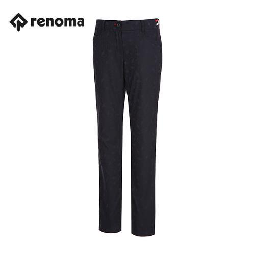 [레노마골프]여성 부분 밴딩 자가드 패턴 슬림 팬츠 RWPTG5501-120