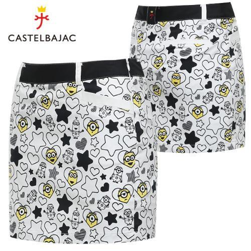 [까스텔바작] 큐티 패턴 허리배색 여성 스판 골프 큐롯/골프웨어_BG8MCU714