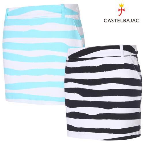[까스텔바작] 면스판 배색 지브라 패턴 여성 골프 큐롯/골프웨어_BG9SCU504