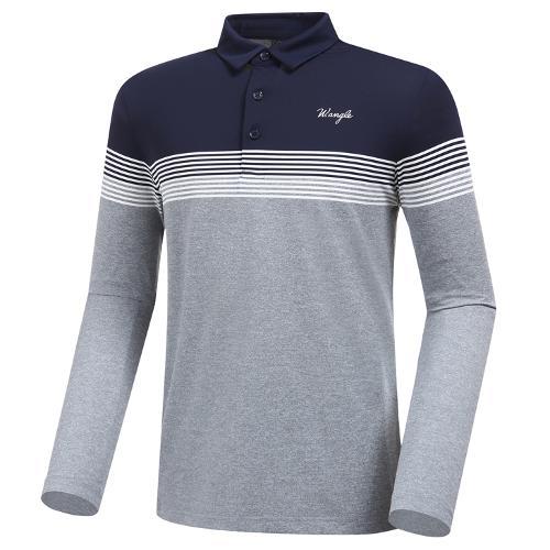 [와이드앵글] 남성 조직감 뎅깡 보더 티셔츠 M WMP20233C4