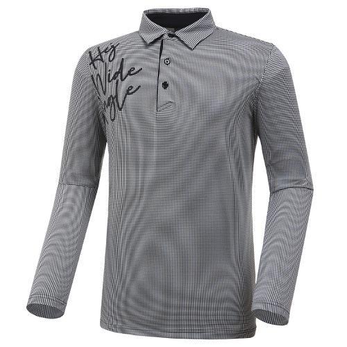 [와이드앵글] 남성 깅엄체크 원포인트 티셔츠 M WMP20234Z1