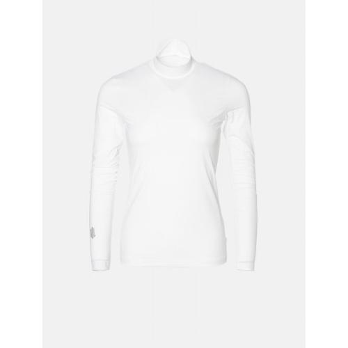 [빈폴골프] [NDL라인] 여성 화이트 쿨스킨 하이넥 냉감 티셔츠 (BJ0241L401)