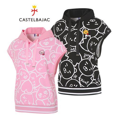 [까스텔바작] 카카오 캐릭터 여성 골프 민소매 후드티셔츠/골프웨어_BG9MTN707