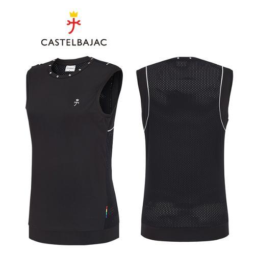 [까스텔바작] 폴리스판 여성 메쉬 슬리브리스 골프 민소매 티셔츠/골프웨어_BG9MTN801