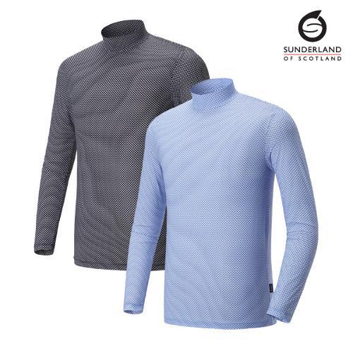 선덜랜드 남성 스판 프린트 냉감티셔츠 - 16021IW04
