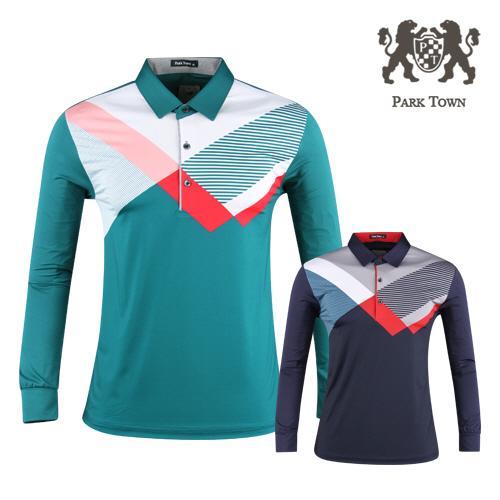 파크타운 남성 배색 카라 골프셔츠 RM20S402