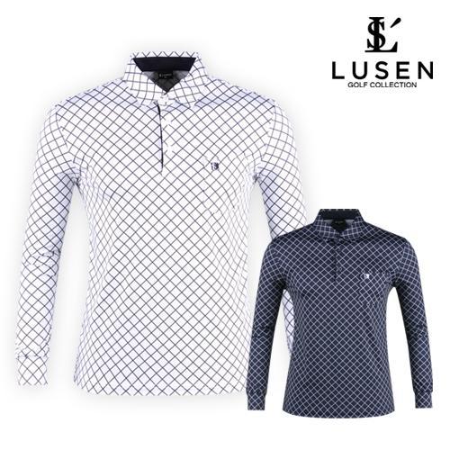 루센 남성 다이아 패턴 골프셔츠 LU20S401