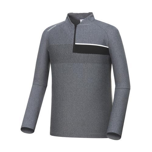 [와이드앵글] 남성 긴팔 반넥 보더형 티셔츠 WMP18201C4