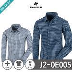 [JEAN PIERRE] 쟌피엘 남성 사각 체크 스판남방 Model No_J2-0E005