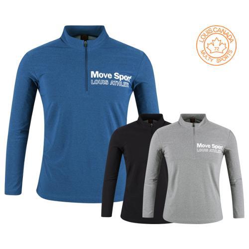 루이스캐나다 스트레치 반집업 골프셔츠 LC20S401
