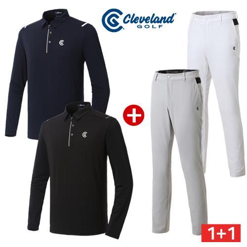 [클리브랜드골프] 썬가드 골프 긴팔티셔츠 + E-BAND 슬림 골프바지/골프웨어/필드코디_CG249493