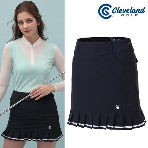 [클리브랜드골프] 큐티 밑단 주름 테잎 장식 여성 골프 큐롯/골프웨어_CGKWSK085