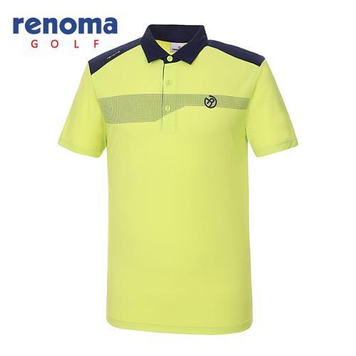 [레노마골프]남성 배색 포인트 카라 티셔츠 RMTYG2124-133