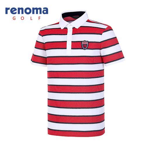 [레노마골프]남성 메쉬 스트라이프 티셔츠 RATS43631-WH