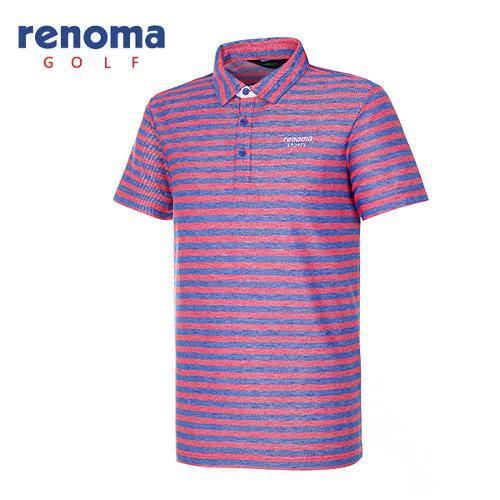 [레노마골프]남성 블록 스트라이프 티셔츠 RATS41631-RB