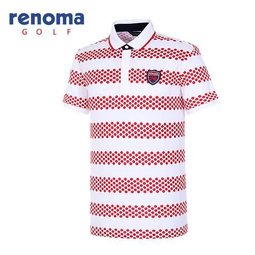 [레노마골프]남성 폴카 도트 폴로넥 티셔츠 RATS38631-RD