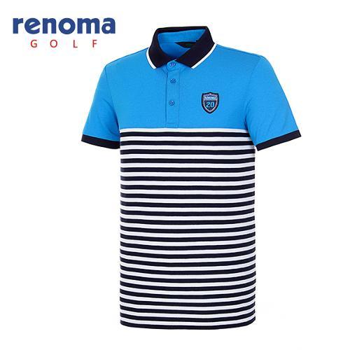 [레노마골프]남성 컬러 블러킹 스트라이프 티셔츠 RATS37631-DR