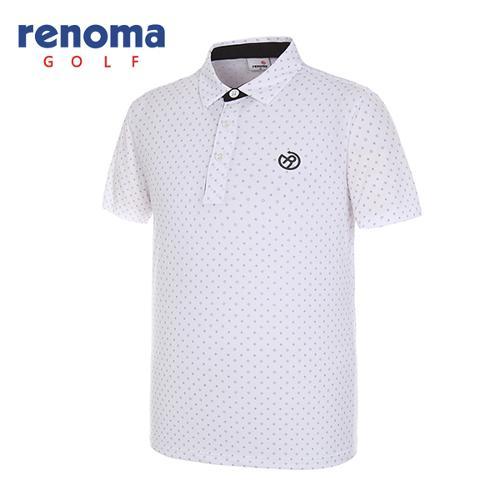 [레노마골프]남성 다이아몬드 반팔 티셔츠 RMTYG2123-100