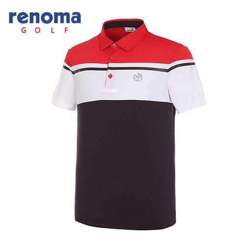 [레노마골프]남성 라인 컬러 반팔 티셔츠 RMTYG2122-500