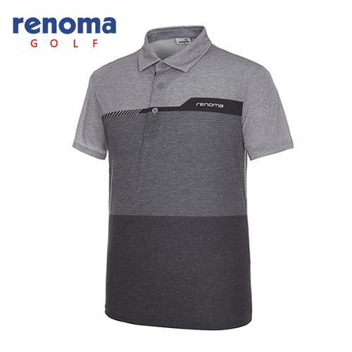 [레노마골프]남성 컬러 블록 반팔 티셔츠 RMTYG2120-193