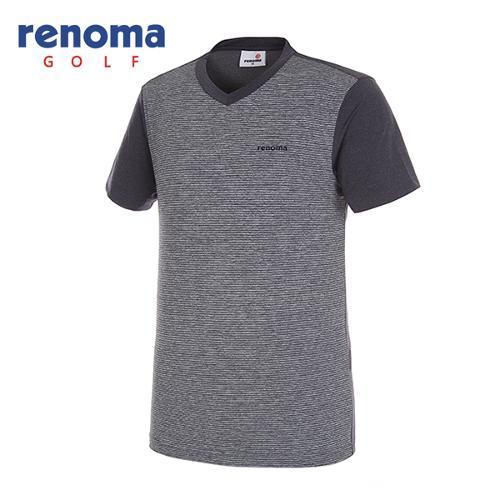[레노마골프]남성 쿨 브이넥 반팔 티셔츠 RMTRG2136-120