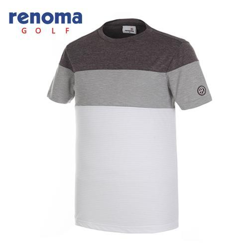 [레노마골프]남성 블록 라운드 반팔 티셔츠 RMTRG2135-505