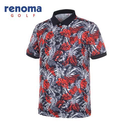 [레노마골프]남성 트로피컬 반팔 티셔츠 RMTPG2134-120