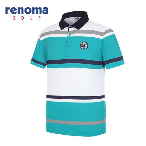 [레노마골프]남성 블럭 카라 반팔 티셔츠 RMTPG2111-830