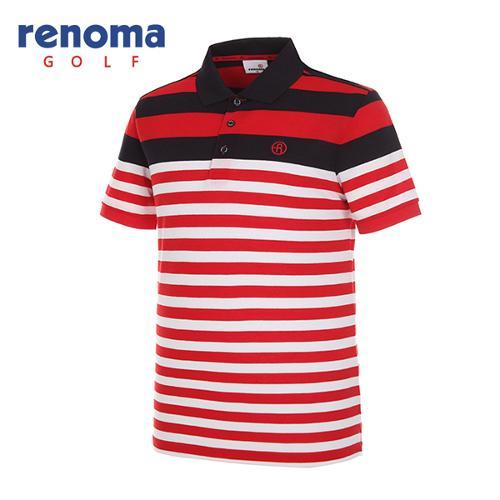 [레노마골프]남성 배색 카라 반팔 티셔츠 RMTPG2110-500