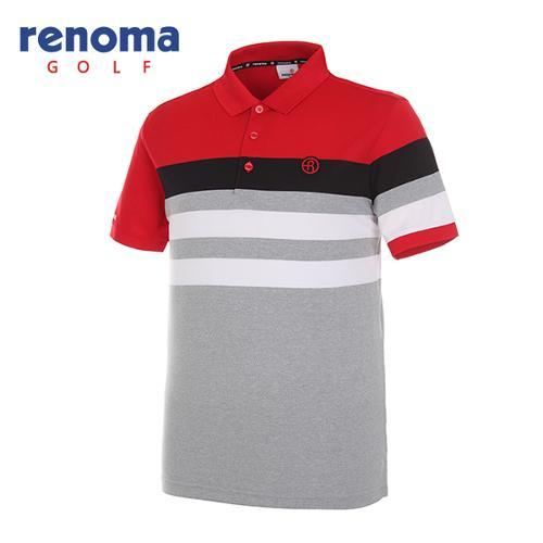 [레노마골프]남성 스트라이프 반팔 티셔츠 RMTPG2102-500