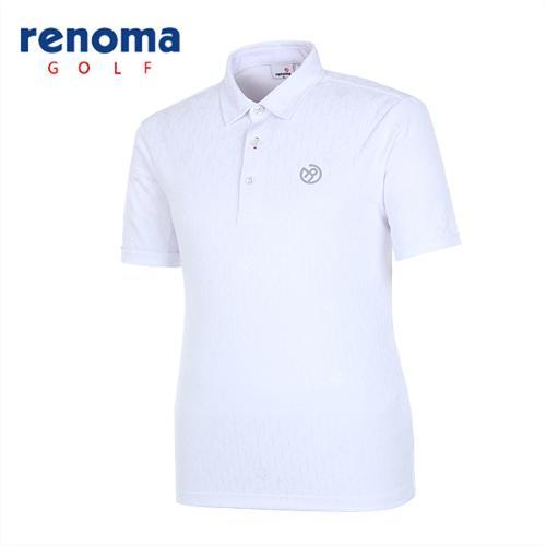 [레노마골프]남성 스포티 큐브 반팔 티셔츠 RMTYG2106-100
