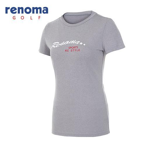 [레노마골프]여성 로고 라운드넥 반팔 티셔츠 RATS7R631-MG
