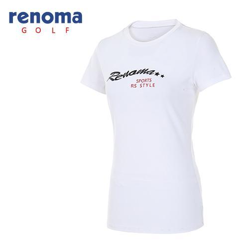 [레노마골프]여성 로고 라운드넥 반팔 티셔츠 RATS7R631-WH