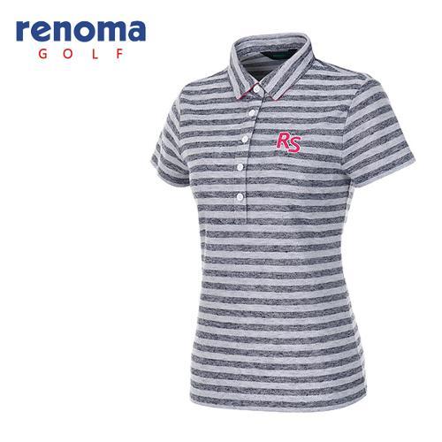 [레노마골프]여성 블록 스트라이프 반팔 티셔츠 RATS91631-NY