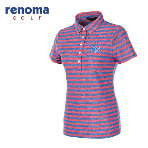 [레노마골프]여성 블록 스트라이프 반팔 티셔츠 RATS91631-HP