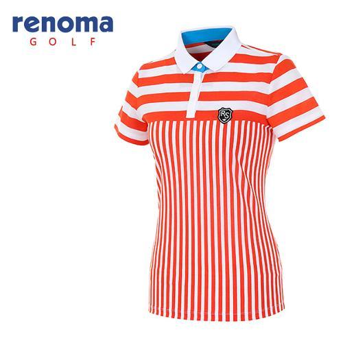 [레노마골프]여성 콤비 스트라이프 티셔츠 RATS86631-DO